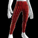 Pantalons fuseaux à rayures