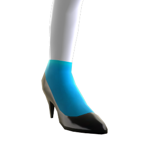 Turquoise Socks and Black Pumps