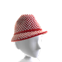 Red Checker Hat